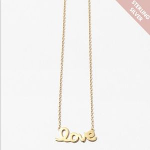 Jewelry - Sterling Silver Love Necklace